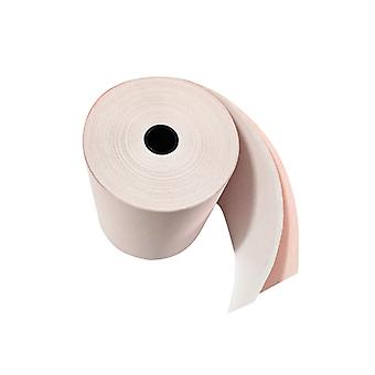 Maxatec MDP-300 2 Ply Till / Printer Rolls - White / Pink - Box of 2013.