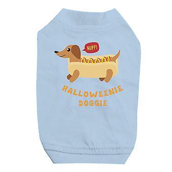 小型犬用 Halloweenie わんわんスカイブルー ペット シャツ