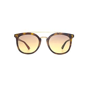 Gucci Urban Double Bridge Combi Sunglasses In Havana