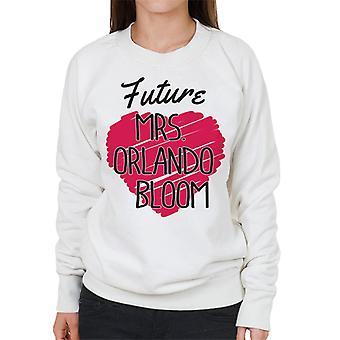 Future Mrs Orlando Bloom Love Heart Women's Sweatshirt
