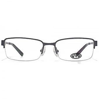 Animal Payne Rectangle Half Rim Glasses In Gunmetal