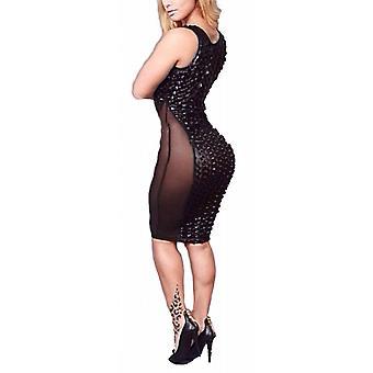 Waooh Kleid kurz Sexy Semi transparent