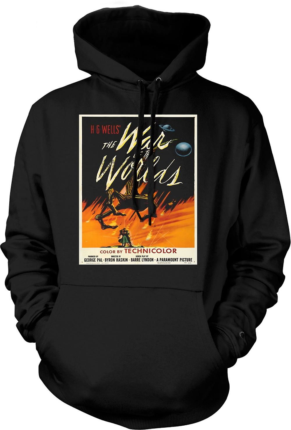 Mens Hoodie - War Of The Worlds - H G Wells - Poster