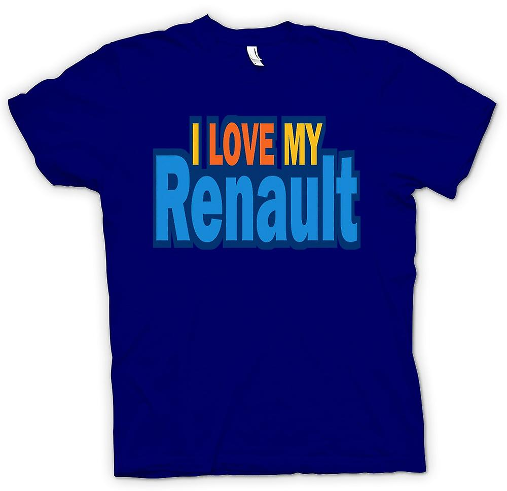 Mens T-shirt - I Love My Renault - Car Enthusiast