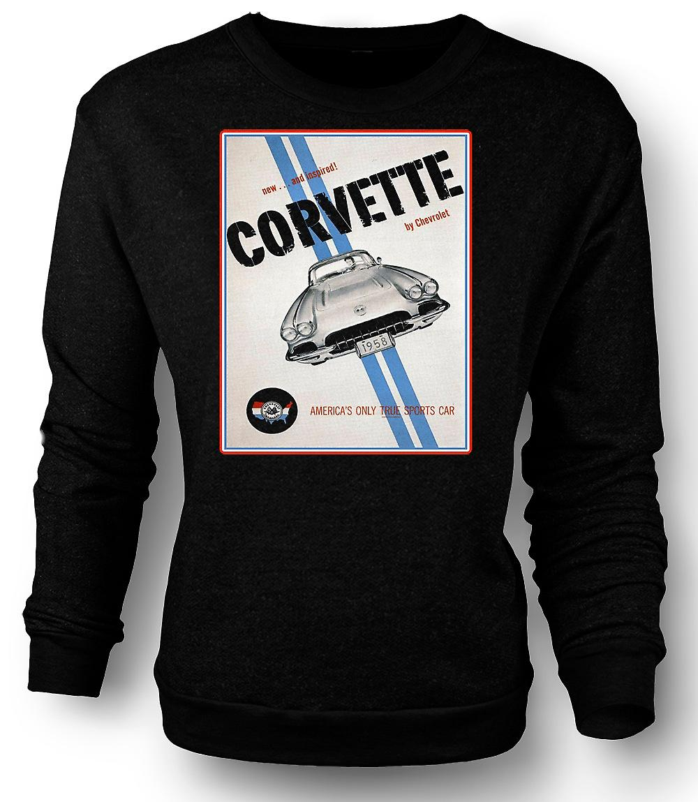 Mens Sweatshirt Chevy Corvette Sports - Car