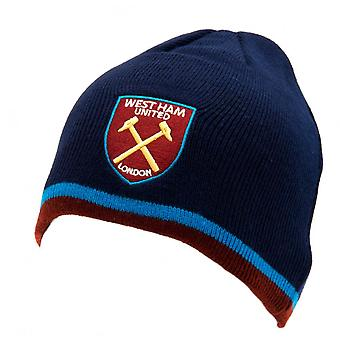 West Ham United FC Official Adults Unisex Knitted Hat