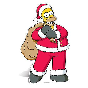 Homer Simpson Santa Claus Lifesize Cardboard Ausschnitt / f - die Simpsons