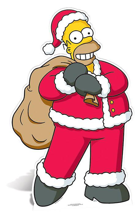 Homer Simpson Santa Claus Lifesize Cardboard Cutout / Standee - The Simpsons