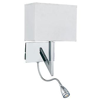Searchlight 3299CC Chrome Switched Wall Light with Flexible LED Lamp
