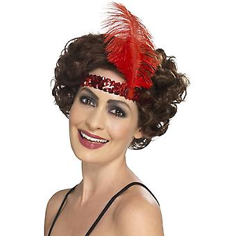 Womens 1920er Jahre Flapper Stirnband rot Fancy Dress Zubehör