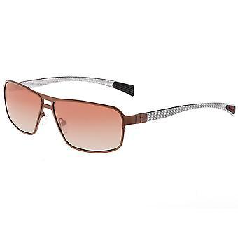 Breed Meridian Titanium and Carbon Fiber Polarized Sunglasses - Brown/Brown