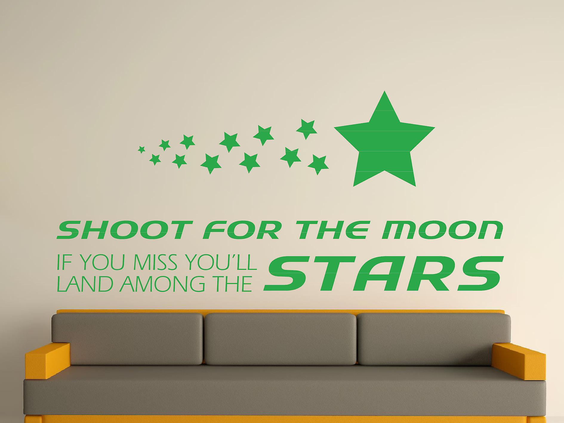 Shoot for the Wall Sticker Art Lune - Vert