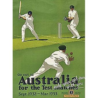 Australia For The Test Matches small metal sign   (og 2015)