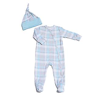 Everly grau Baby grau Baby Footie & Hut Set