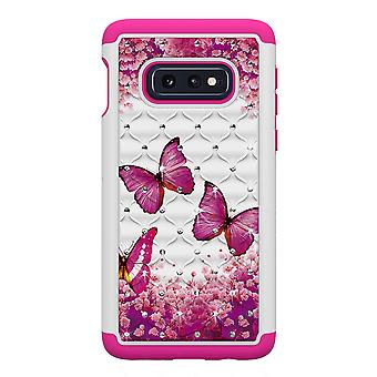 Samsung Galaxy S10e TPU coque armure supplémentaire Durable-rose papillons
