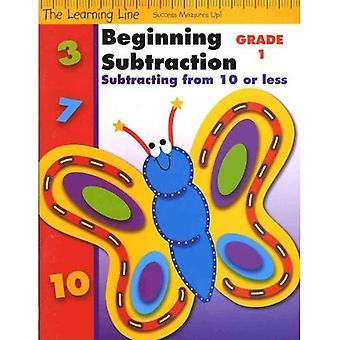 Början subtraktion fakta, grad 1: Subtrahera från 10 eller mindre (lärande linje)