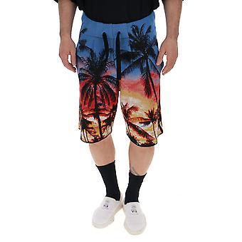 Laneus Multicolor Cotton Shorts