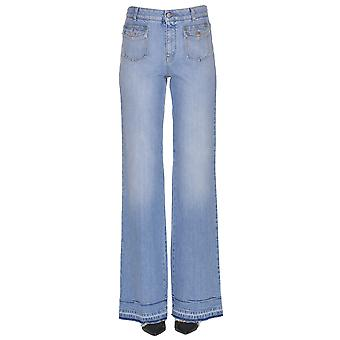 Stella Mccartney Light Blue Cotton Pants