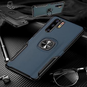 Für Huawei P30 Pro Magnet Metall Ring Hybrid Case Blau Tasche Hülle Cover Etuis Schutz