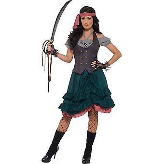 Piraat Deluxe Dames kostuum middeleeuwse piraat wench kostuum Seefahrein