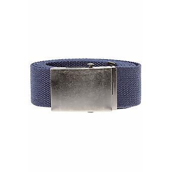 D555 King Size Navy Webbing Belt
