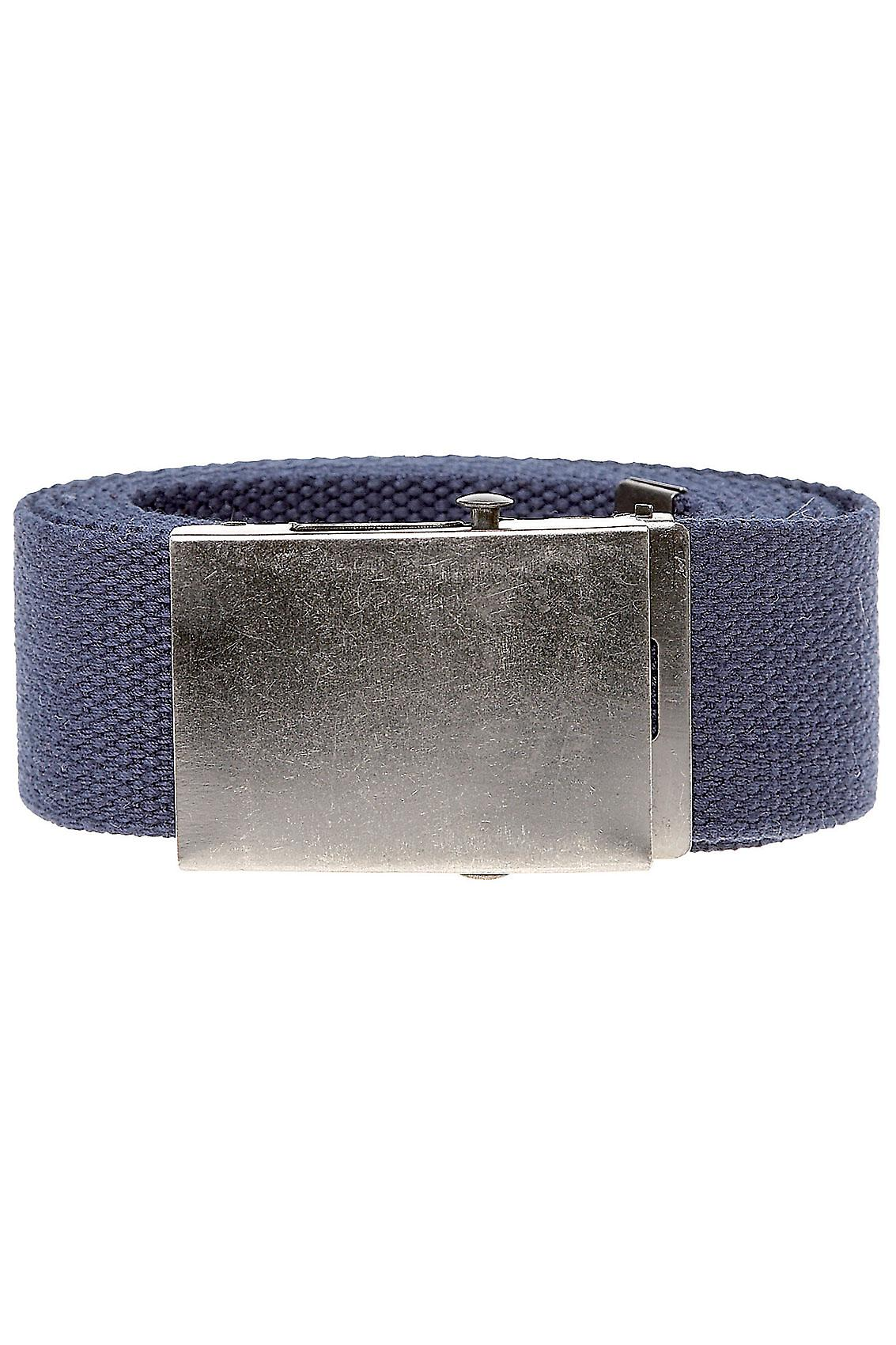 D555 King Size Navy Webbing Belt