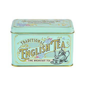 Vintage victorian english breakfast tea tin 40 teabags