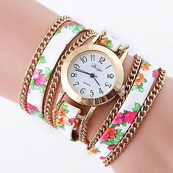 Floral Wrap Watches-White