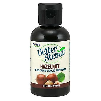 Now Foods Better Stevia Liquid Extract Hazelnut 59 ml (Dieet , Zoetstoffen)