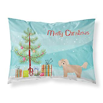 Bichpoo Christmas Tree Fabric Standard Pillowcase