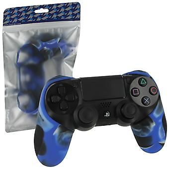 SG-1 Silicone rubber grip Cover Case Skin voor Sony PS4 controllers-Camo blauw