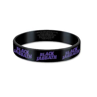 Official Black Sabbath Wristband wavy band Logo new 17mm Rubber