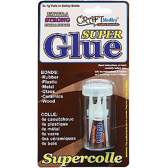 Super Glue 1G Vials 3 Pkg Gl642