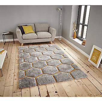 Nobel House 30782 30782 grå gul rektangel tæpper Funky tæpper