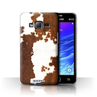 STUFF4 Case/Cover for Samsung Z1/Z130/Cow/Brown/Animal Fur Pattern