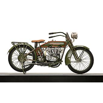 1919 Harley Davidson motorcycle Poster Print