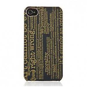 Skech Canvas Typography Case Cover for iPhone 4 black
