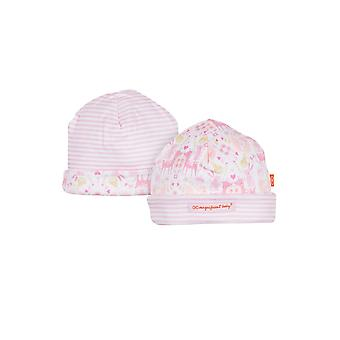 Magnificent Baby Reversible Baby Girl Cap- Woodland Damask