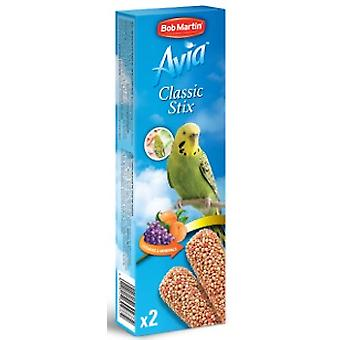 Bob Martin Avia Classic Stix With Fruit For Budgies 2pk 66g (Pack of 8)