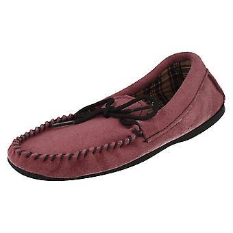 Ladies Bella Slip On Slippers Moccasin