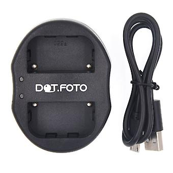 Dot.Foto Sony NP-F550 Dual USB Battery Charger