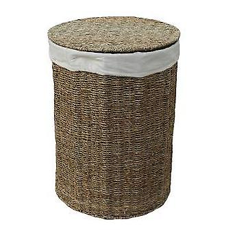 Set of 2 Seagrass Round Laundry Baskets