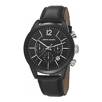Pierre Cardin mens watch watch Chrono TROCA leather PC106591F12