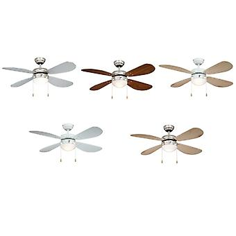 Ceiling fan CLASSIC with light in different colours