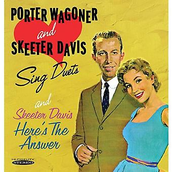 Porter Wagoner & Skeeter Davis - synge duetter & her er svaret [CD] USA importerer