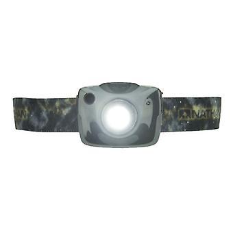 Nathan Nebula Fire Stirnlampe Steel Grey mit Crossover Kit