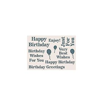 Creative Expressions Phill Martin Sentimentally Yours Collection A5 Stencil - Birthday*^^