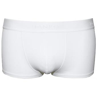 Hanro Authentic Ribbed Boxer Trunk, White