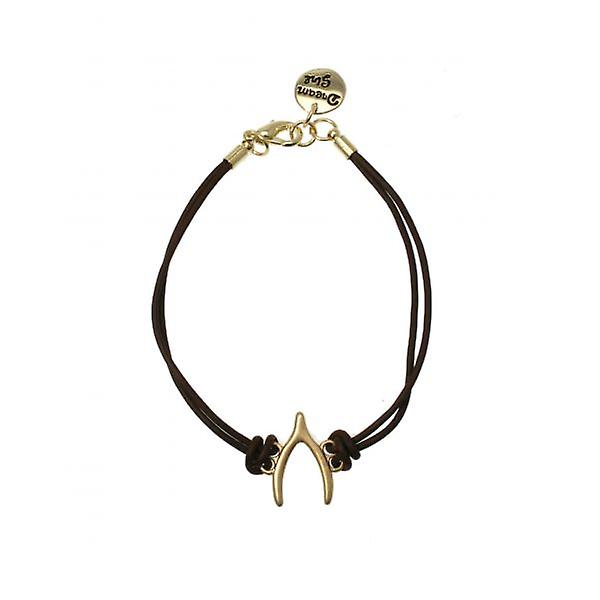 W.A.T Dream Girl Brown Wishbone Bracelet
