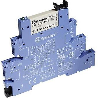 Finder 38.51.7.006.0050 - 6A Relay Interface Module, EMR, SPDT-CO 250Vac